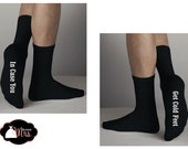CUSTOM GROOM Socks, Wedding Socks, Groom Gift, Cold Feet, Warm Feet - In Case You Get Cold Feet