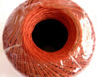 RUSSET brown Crochet cotton, Aunt Lydias Classic Crochet Cotton Thread,  size 10, dark brown, reddish orange harvest