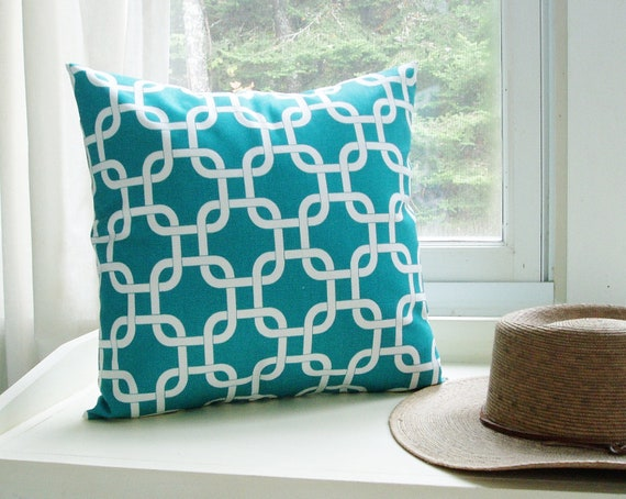 Items similar to turquoise pillow cover decorative couch for Turquoise couch pillows