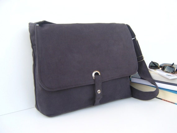 LAST ONE - Modular Messenger Bag II in Dark Grey / Shoulder Bag / Laptop Bag / Diaper Bag / Travel Bag / Dude / for him