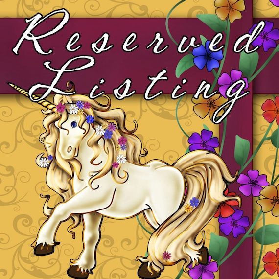 Reserved listing for Maria