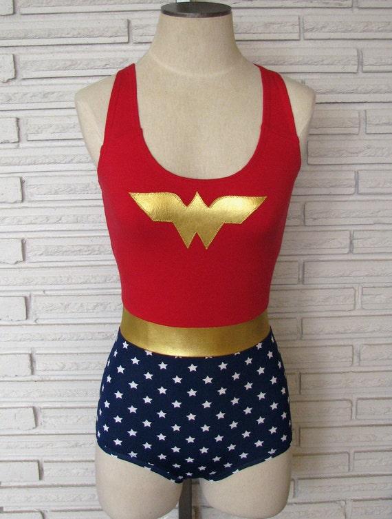 Wonder Woman Costume, Leotard, Bodysuit, Aerial Costume, Made to Order