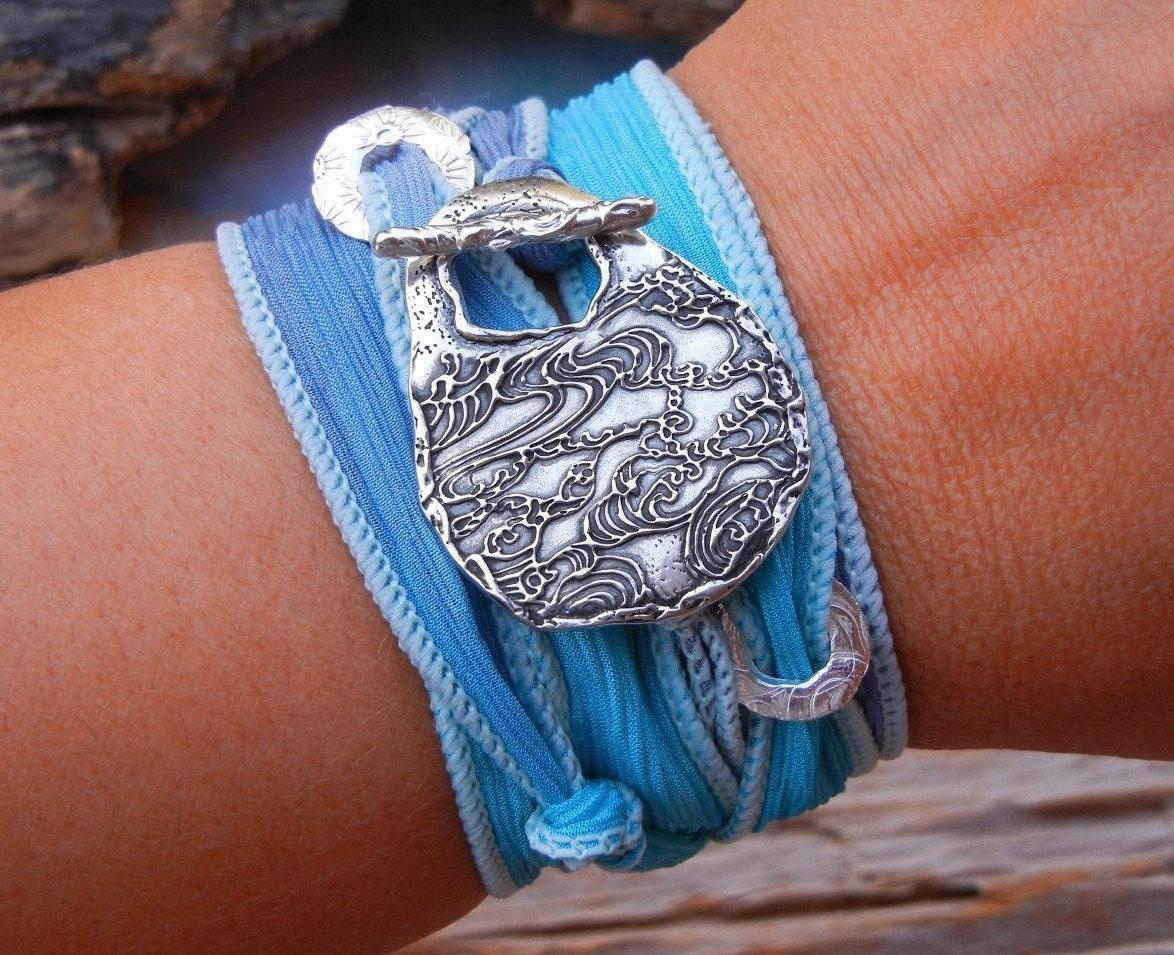 Hippie Jewelry Bohemian Hippie Bracelet STERLING Silver Boho
