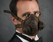 "Steampunk Gas Mask Respirator in black iron colors ""Excursionist"" - TomBanwell"