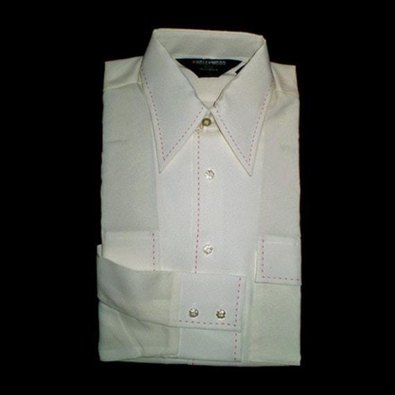 Vintage 70s Disco Shirt NOS Hollywood Star Originals S