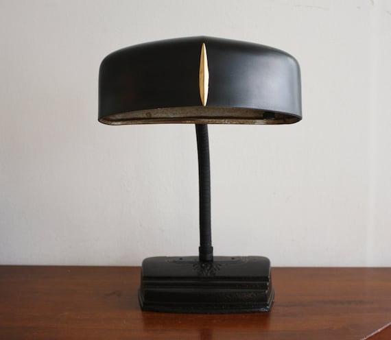 Vintage black gooseneck desk lamp