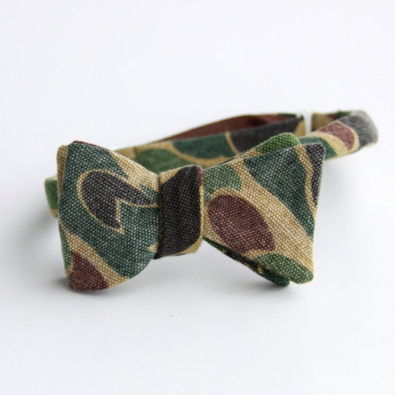faded camouflage bow tie