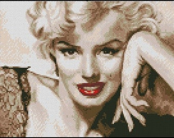 MARILYN MONROE cross stitch pattern No.667