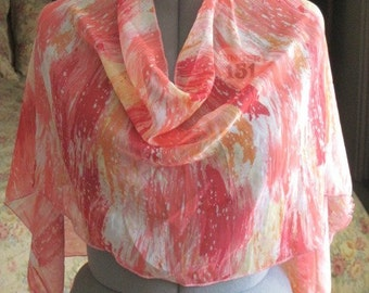 Scarves; Accessories; Women; Chiffon; Spring bright pink