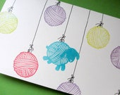 Sheep Ball of Yarn - Hand Carved Rubber Stamp