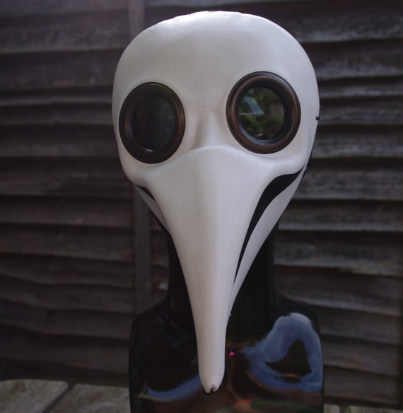 White Doctor Plague Leather Mask - Wearable