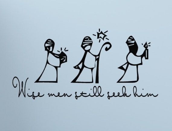 Merry Christmas Quote Wall Art Decal: Christmas Wall Decal Three Wise Men Wise Men By HouseHoldWords