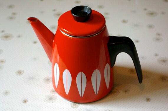 SALE Cathrineholm Lotus Orange Coffee Pot
