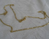 Gold Metal Chain Costume Jewelry Necklace