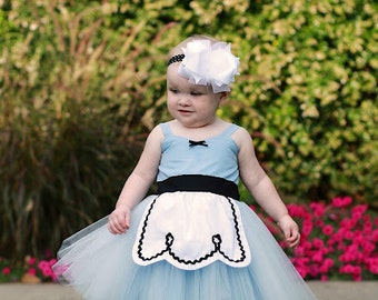 ALICE IN WONDERLAND dress baby 1st  birthday costume dress tutu dress baby costume infant special occasion or portrait