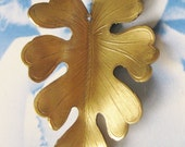 Large Raw Brass Leaf Pendant Stampings 1190RAW x1