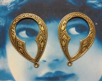 Brass Ox Plated Brass Celtic Hoops 2034BOX x2