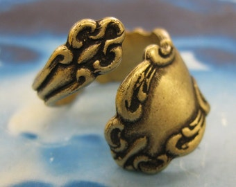 Brass Ox Plated Vintage Spoon Rings 904BOX x1