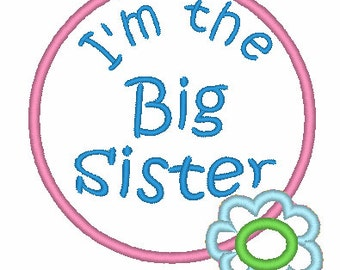 I'm the Big Sister Applique Design 002