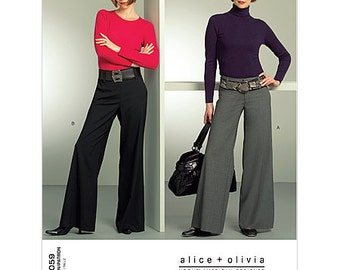 Alice & Olivia Pants Pattern Vogue 1059 Size 4-10