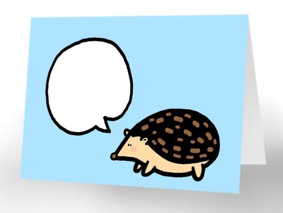 PDF 4x6 Hedgehog Card Set   - 5 designs