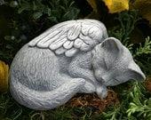Cat Angel Statue - Pet Memorial
