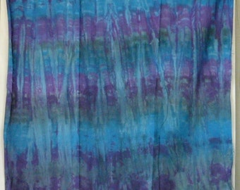 Cotton Sateen, Hand Dyed Yard, Midnight, blue, violet