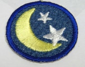 Good Night Moon and Stars Iron-on Patch / Merit Badge