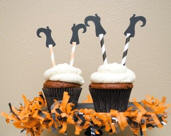 Halloween Witch Leg Cupcake Toppers