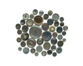 Vintage Gray Buttons Grey