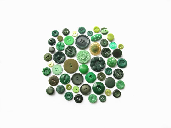 Green Eyed Lady Vintage Buttons