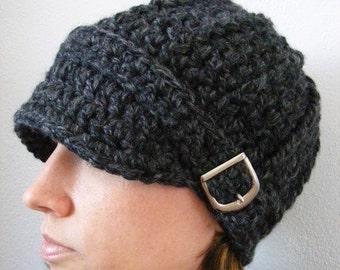 Womens Hat 33 Colors Teen Hat Crochet Visor Hat Buckle Beanie Crochet Hat Warm Winter Hat with Buckle Adult Hat Trendy Fall Hat Knit Hat