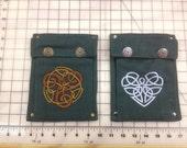 Immediate Ship- Dark Green Single Pockets