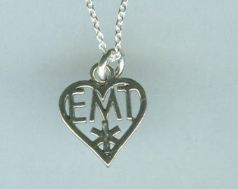 Sterling EMT Pendant and Chain - MEDICAL