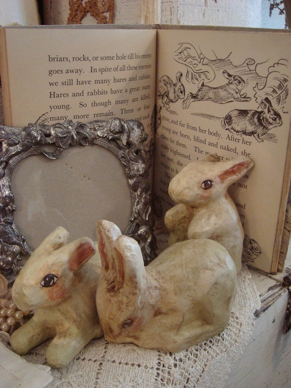Vintage Shabby Cottage Rabbit Collection