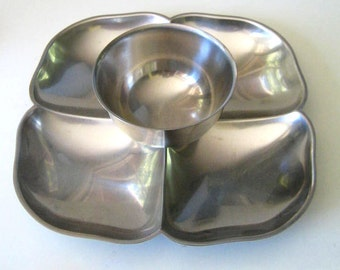 Gense stainless steel chip and dip tray. Made in Sweden.