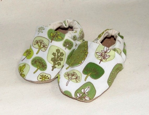 Baby Shoes Be Green Trees Hemp Organic Eco Friendly Canvas Shoes 0-6 Months