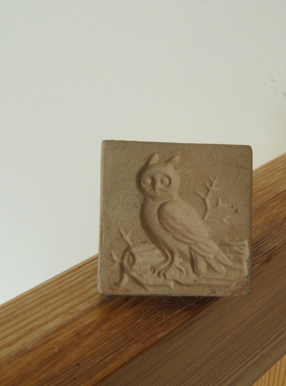 Vintage Cookie Stamp OWL