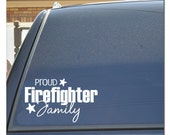 Proud Firefighter Family Car Decal