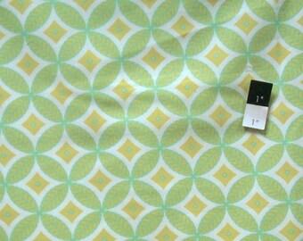 Dena Designs DF78 McKenzie Circles Aqua Cotton Fabric 1 Yd