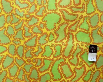 Brandon Mably BM16 Python Yellow Cotton Fabric 1 Yard