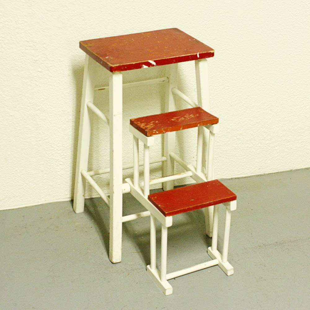 Vintage Kitchen Stool Step Stool Stool Chair By OldCottonwood