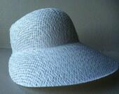Doll bonnet hat medium basket weave straw  pattern white NOS LOT