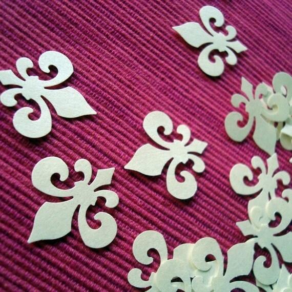 Fleur de Lis Confetti Paper Punch Shape Die Cuts Small - 150 pieces