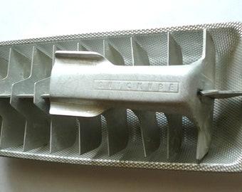 vintage ice cube tray  quickube mid century aluminum