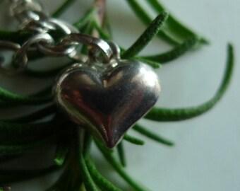 love cozy charm cute heart vintage sterling silver