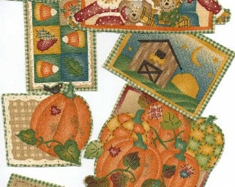 Country Pumpkin Patches - Iron On Fabric Appliques