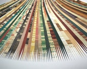 20A-Earth Tone Paper Strips for making paper beads with your paper bead roller