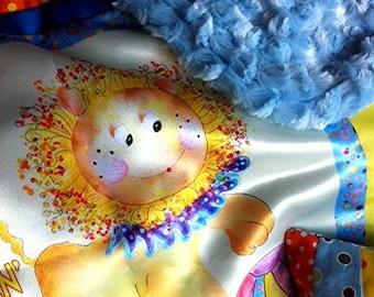 "Plushy Lushy Baby Mc Lion Silky Charmuese Baby Blanket ""Tuckie"" by Rosanna Hope for Baby Bonbons"