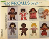 Vintage 70's Craft Sewing Pattern, Set of Dolls and Sleeping Bag